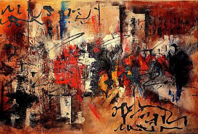 Mixed Media - Acrylic Abstraction-an Urban Theme#1 by Richard Ortolano