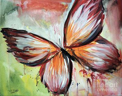 Painting - Acrylic Butterfly by Tom Riggs