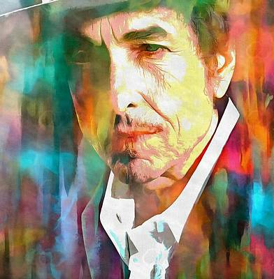 Bob Dylan Mixed Media - Acrylic Dylan by Dan Sproul