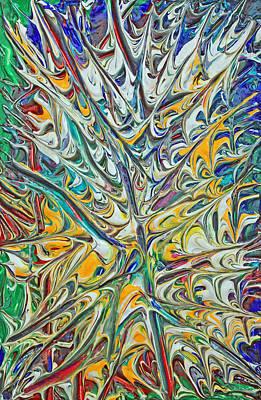 Acrylic Fire 2005 Original by Carl Deaville