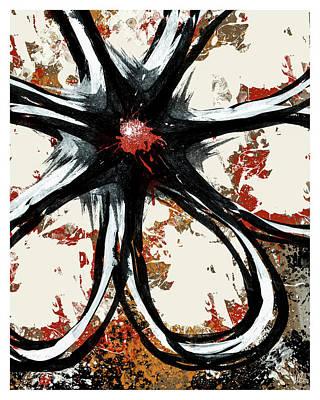 Light Paint Mixed Media - Acrylic Flower 1 P by Melissa Smith