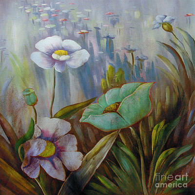 Painting - Acrylic Flowers  by Gull G