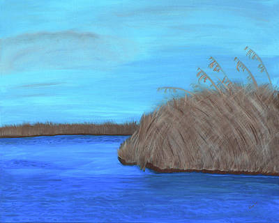 Painting - Acrylic Mississippi Marsh by Kathy K McClellan