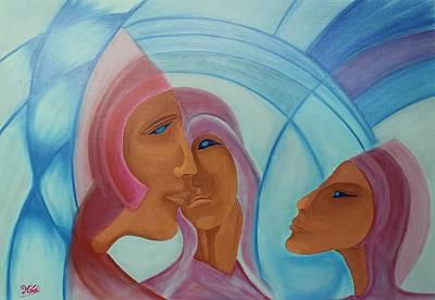 Painting - Acrylic Msc 002 by Mario Sergio Calzi