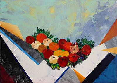 Painting - Acrylic Msc 004 by Mario Sergio Calzi