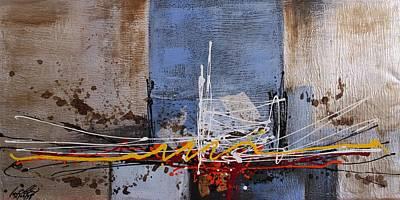 Painting - Acrylic Msc 025 by Mario Sergio Calzi