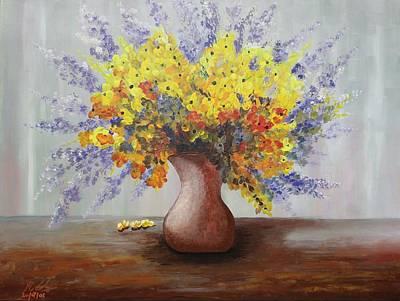 Painting - Acrylic Msc 028  by Mario Sergio Calzi