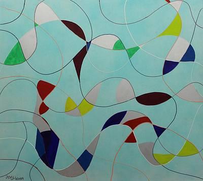 Painting - Acrylic Msc 087 by Mario Sergio Calzi
