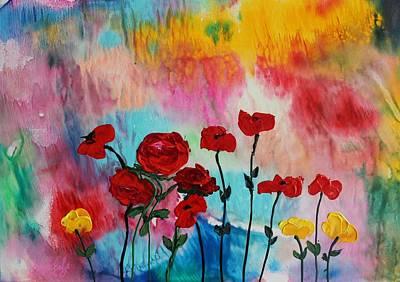 Painting - Acrylic Msc 101 by Mario Sergio Calzi