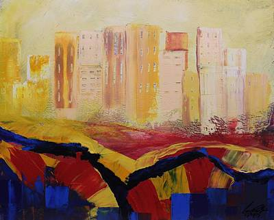 Painting - Acrylic Msc 141 by Mario Sergio Calzi