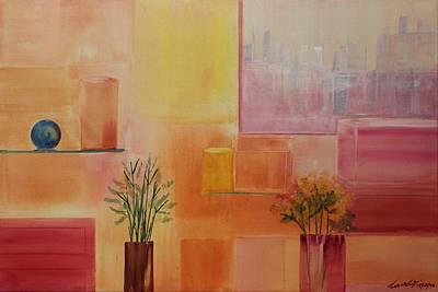 Painting - Acrylic Msc 199 by Mario Sergio Calzi