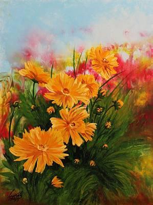 Painting - Acrylic Msc 216 by Mario Sergio Calzi