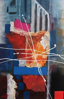 Painting - Acrylic Msc 227 by Mario Sergio Calzi