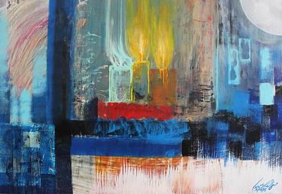 Painting - Acrylic Msc 228 by Mario Sergio Calzi