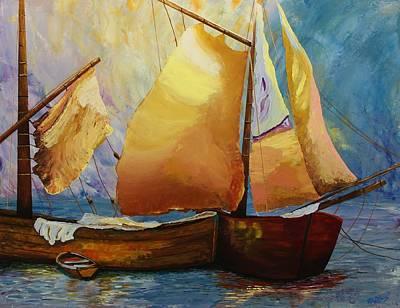 Painting - Acrylic Msc 236 by Mario Sergio Calzi