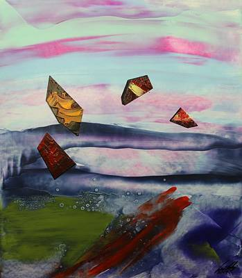 Painting - Acrylic Msc 243 by Mario Sergio Calzi