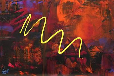 Painting - Acrylic Msc 245 by Mario Sergio Calzi