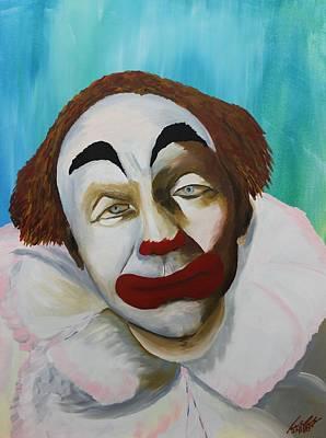 Rodeo Clown Painting - Acrylic Msc 251 by Mario Sergio Calzi