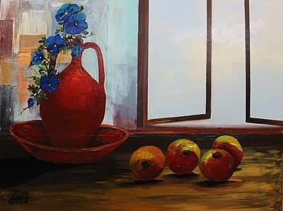Painting - Acrylic Msc 253 by Mario Sergio Calzi