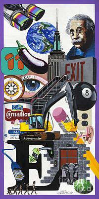 Acrylic Painting Letter E Art Print by Scott Duffy