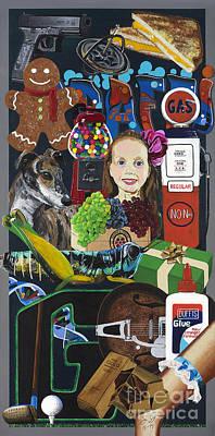 Acrylic Painting Letter G Art Print by Scott Duffy