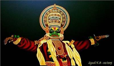 Kathakali Painting - Acrylic Paintings  by Sajeesh K A