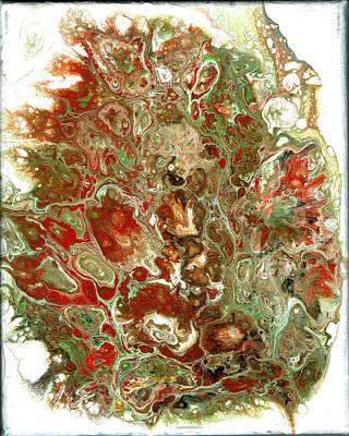 Photograph - Acrylic Pour#6 On Canvas by Richard Ortolano