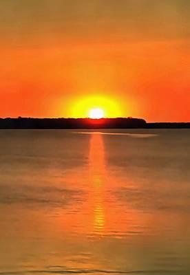 Western Art - Acrylic Sunset by Dan Sproul