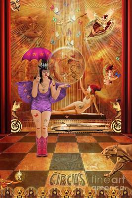 Mixed Media - Act 4 Circus Pipe Dreams Alice In A Wonderland by Joseph J Stevens