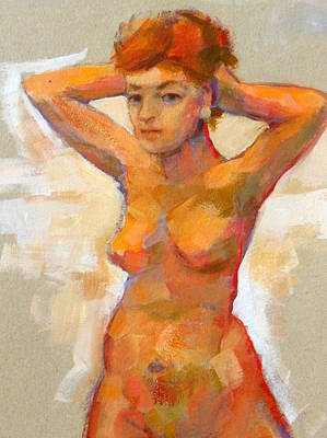 Multi Colored Painting - Act Painting 7 by Alfons Niex