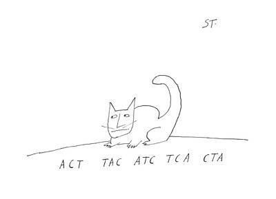 Atc Drawing - Act Tac Atc Tca Cta by Saul Steinberg