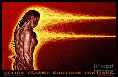 Mixed Media - Action Ceased, Emotions Continue by Tony Koehl