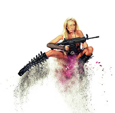 Weapons Photograph - Action Girl by Stephen Smith