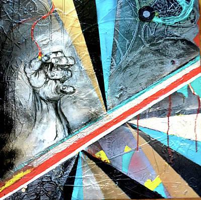 Joan Raspo Wall Art - Painting - Democracy? by Joan Raspo