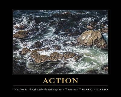 Action Motivational Quote Art Print
