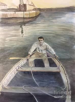 Painting - Active Duty-1946 by Carol Oufnac Mahan