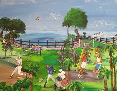 Jet Ski Painting - Activities In The Park by Brenda Wooldridge