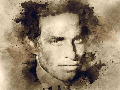 Actor Digital Art - Actor Eddie Redmayne by Elizabeth Simon