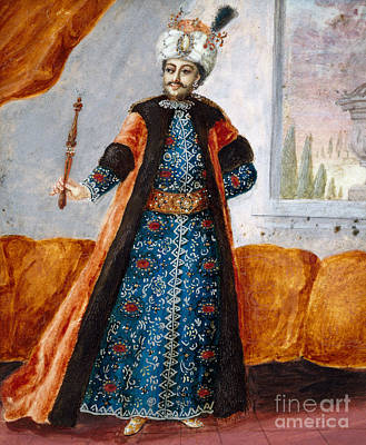 Oriental Style Painting - Actor In Oriental Costume In Role Of Suleiman by French School