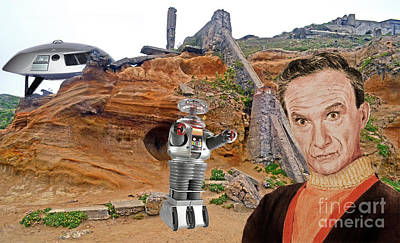 Digital Art - Actor Jonathan Harris As Dr Smith From Lost In Space II by Jim Fitzpatrick