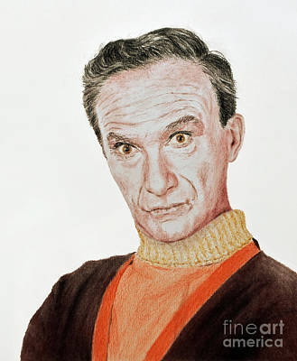 Drawing - Actor Jonathan Harris As Dr Smith From Lost In Space by Jim Fitzpatrick