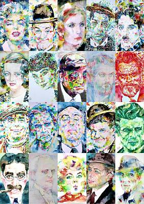 Painting - Actors And Directors by Fabrizio Cassetta