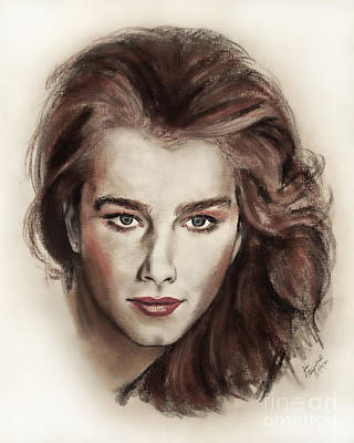 Drawing - Actress And Model Brooke Shields by Jim Fitzpatrick