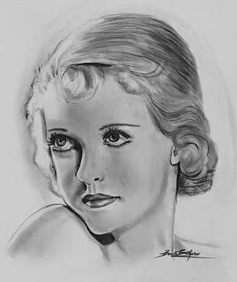 Drawing - Actress From The 20's by Barb Baker