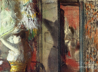Pastel - Actresses Dressing Room by Edgar Degas