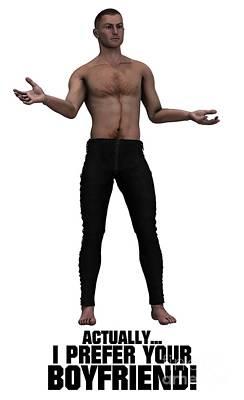 Pagan Nude Digital Art - Actually I Prefer Your Boyfriend by Esoterica Art Agency