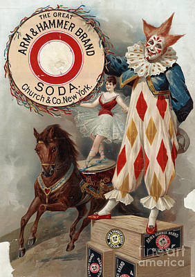 Drawing - Ad, Arm And Hammer, C1900.  by Granger