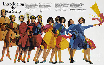 Airlines Photograph - Ad: Braniff Airlines, 1966 by Granger