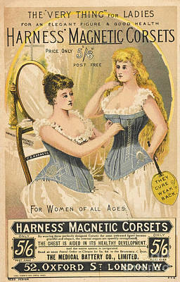 Charlatan Photograph - Ad For Harness Magnetic Corsets, 1892 by Wellcome Images
