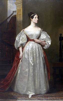 Painting - Ada Lovelace by Margaret Sarah Carpenter